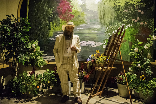 John Timms as Claude Monet at Yreka Preservation