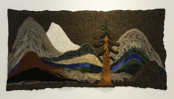 "B. Nina Holzer, ""Rivers & Mountains Forever"", Felted Wool Canvas"