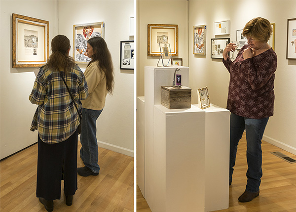 Gallery guests exploring Instant Love