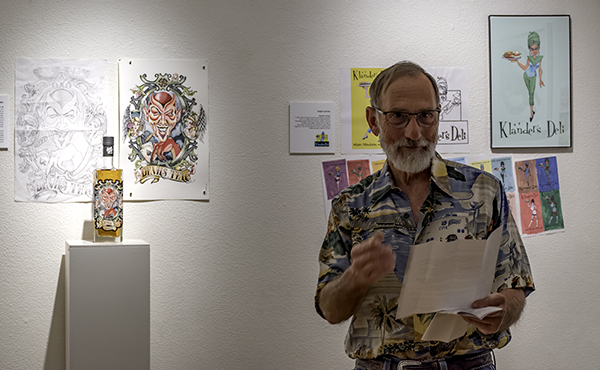 Steve Mains at the opening reception for The Art of Persuasion at Liberty Arts in Yreka, CA