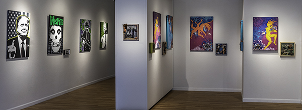 Liberty Arts Gallery, Wonderfully Twisted exhibition with Brenda Eastman, Mimi Bailey and John Uttech.