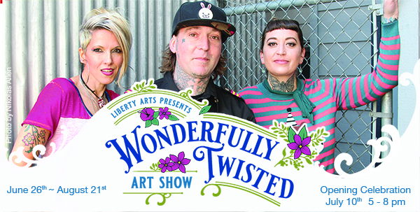Wonderfully Twisted art with ab edge from three of Siskiyou's boldest artistic voices.