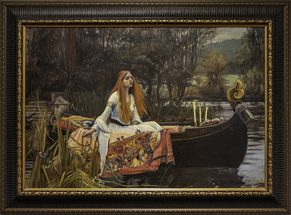 Janet Crittenden, The Lady of the Shalott by John William Waterhouse 1888, The 9th Annual Forgery Show, Liberty Arts, Yreka, CA