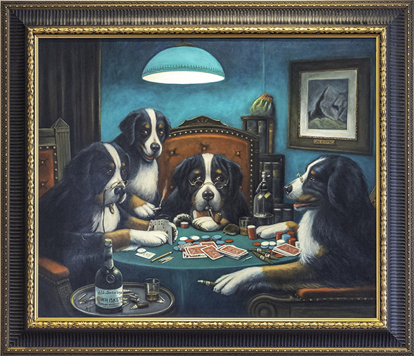 Karen Copsey, Homage to C.M. Coolidge's Poker Game, The 9th Annual Forgery Show, Liberty Arts, Yreka, CA