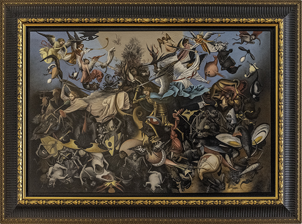 Janet Crittenden, The fall of the Rebel Angels by Pieter Bruegel the Elder 1562, The 9th Annual Forgery Show, Liberty Arts, Yreka, CA