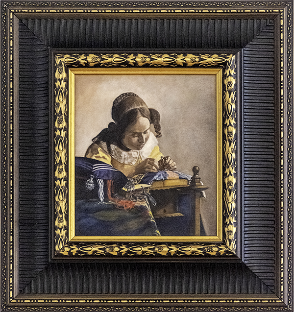 Judy Hester, The Lacemaker by Johannesburg Vermeer 1670, The 9th Annual Forgery Show, Liberty Arts, Yreka, CA